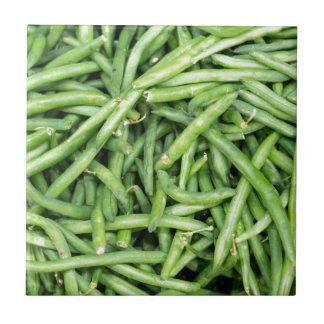 Organic Green Snap Beans Veggie Vegitarian Tile