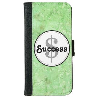 Organic Green Success Print iPhone 6/6s Wallet Case