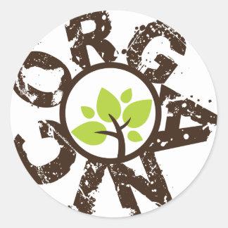 Organic Green Tree Organic Planet Stickers
