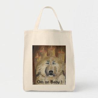 Organic Grocery Bag for Meditating Dog Lovers