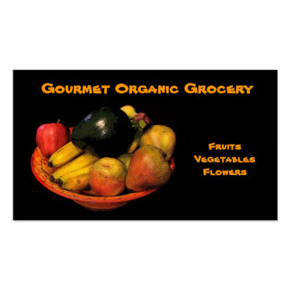 Organic Grocery Double-Sided Standard Business Cards (Pack Of 100)