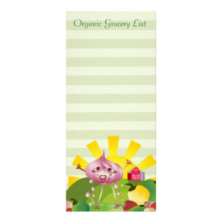 Organic Grocery List Full Color Rack Card