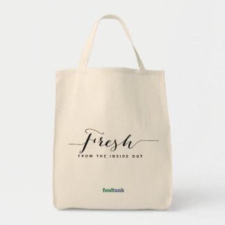 Organic Grocery Tote: Fresh — from the inside out Tote Bag