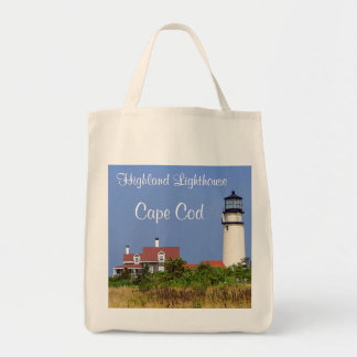 Organic Grocery Tote Highland Lighthouse Cape Cod Canvas Bags