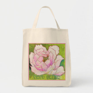 Organic Grocery Tote.'PEONYpink' Bags