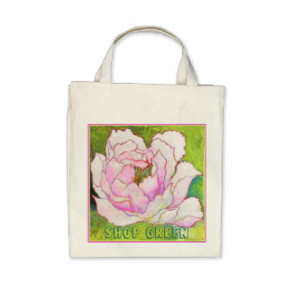 Organic Grocery Tote PEONYpink Bags