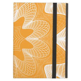 Organic Guilloche Flower orange iPad Air Cases