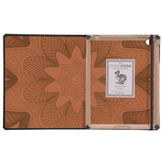 Organic Guilloche Flower oranges iPad Folio Case