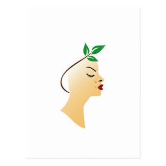 Organic hair spa graphic postcard