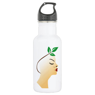 Organic hair spa graphic stainless steel water bottle