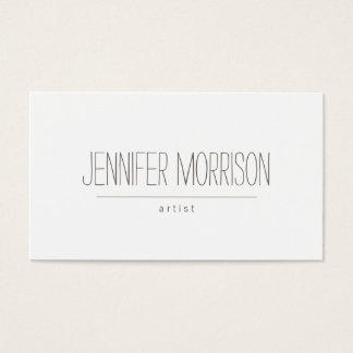 Organic Hand-Written Artist's Business Card
