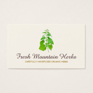 Organic Herbalist Herb Gardener Holistic Health Business Card