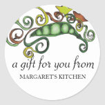 organic hippie peas vegan vegetarian gift tag s... sticker