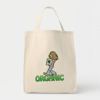ORGANIC hippie with organic food Canvas Bags