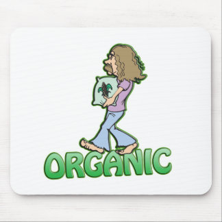 ORGANIC hippie with organic food Mouse Pad
