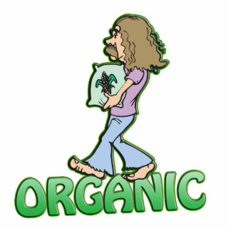 ORGANIC hippie with organic food Standing Photo Sculpture