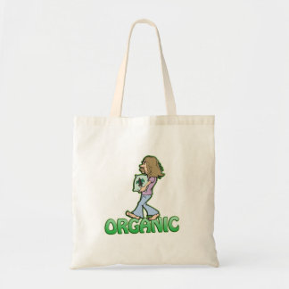 ORGANIC hippie with organic food Tote Bag