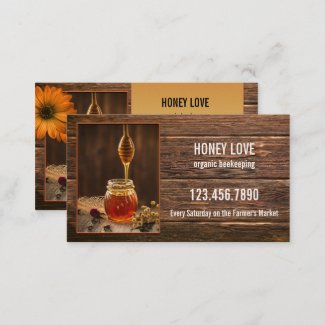 Organic Honey Beekeeping Business Card