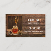 Organic Honey Beekeeping Business Card