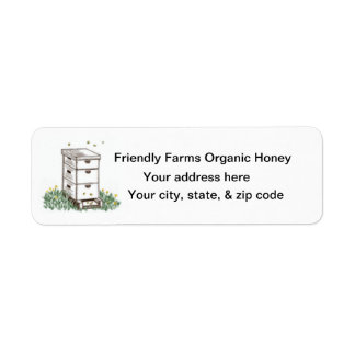 Organic Honey Cone Beekeeper  Return Label Return Address Label