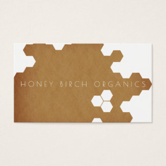Organic Honeycomb | Natural Business Business Card