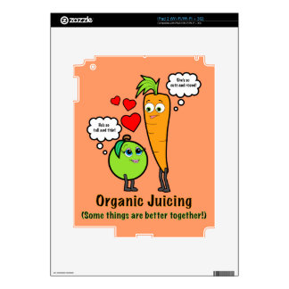 Organic Juicing with Carrot and Green Apple Decal For iPad 2