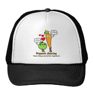 Organic Juicing with Carrot and Green Apple Trucker Hat