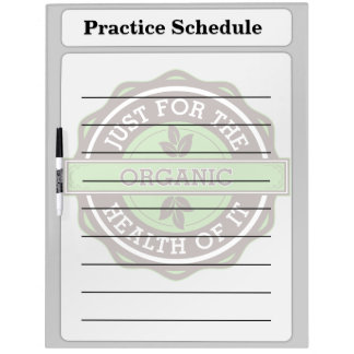 Organic Just For the Health of It Dry Erase Whiteboards
