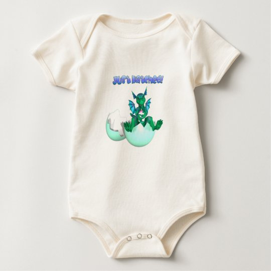 Organic Just Hatched Baby Dragon Baby Bodysuit