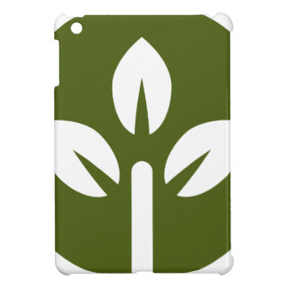 Organic Leaf Icon Button iPad Mini Cases