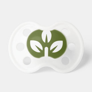 Organic Leaf Icon Button Pacifier