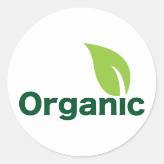 Organic leaf classic round sticker