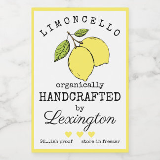 Organic Limoncello For A Small Bottle Label |