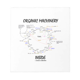 Organic Machinery Inside (Krebs Cycle) Note Pad