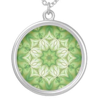 Organic Mandala / Organiskt mandala Round Pendant Necklace