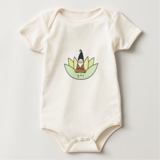Organic meditating gnome baby creeper