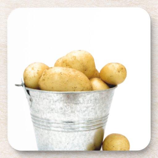 Organic new potatoes coaster