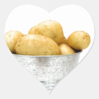 Organic new potatoes heart sticker