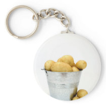 Organic new potatoes keychain