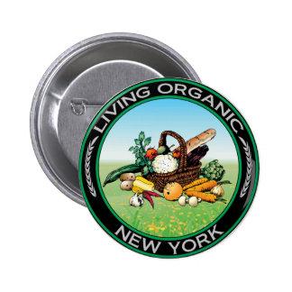 Organic New York Pinback Button