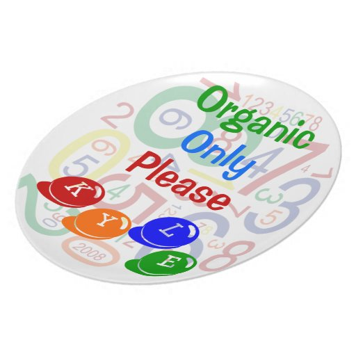 Organic Only Please Melamine Plate