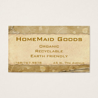 Organic Paper Flowers Business Card