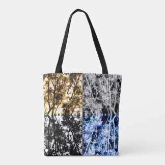 Organic Pattern Forest Trees and Leaves Tote Bag