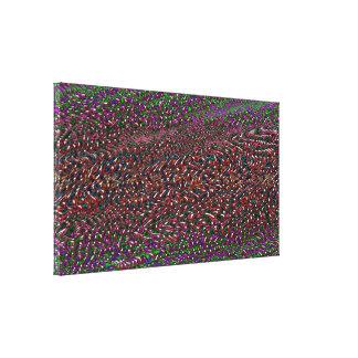 organic pattern melting canvas print