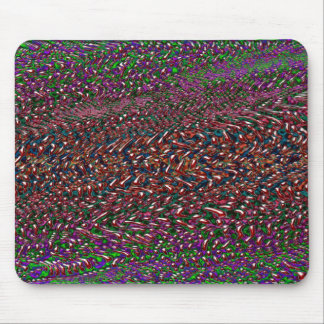 organic pattern melting mouse pad