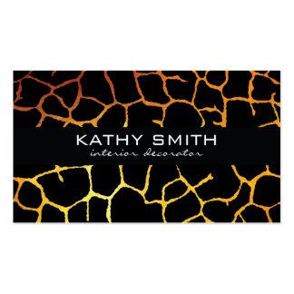 Organic Pattern   Modern, Gold Business Card