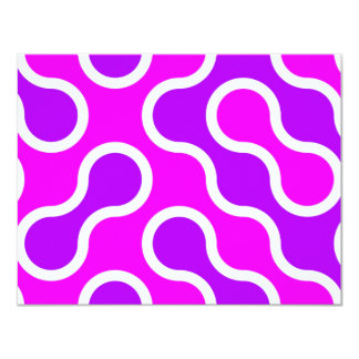 Organic pattern pink and white textured card