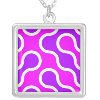 Organic pattern pink and white textured custom necklace