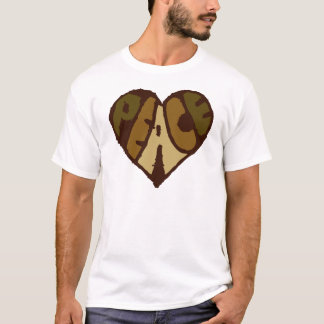 Organic Peace Heart T-Shirt