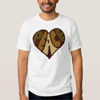 Organic Peace Heart Tee Shirt
